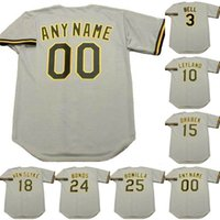 Wholesale 15 Bell - 3 JAY BELL 10 JIM LEYLAND 15 DOUG DRABEK 18 ANDY VAN SLYKE BOBBY BONILL BARRY BONDS 1992 Throwback Baseball Jerseys
