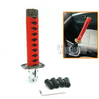 Wholesale 150mm Red and Black JDM Samurai Sword Shift Knob Shifter Katana Metal Weighted Sport With Adapter