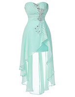 Wholesale Turquoise S Dress - Chiffon Plus Size Short Pink Bridesmaid Dresses Sweetheart Front Long Back Evening Dress Pale Turquoise Night Formal Party Guest Gowns