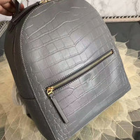 Wholesale Genuine Leather Shoulderbag - 2017 latest fashion brand two letter T unisex leather backpack shoulderbag school bag 24*30*12cm
