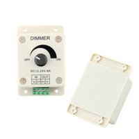 Wholesale Hot Dimmer Switch - Dimmer DC 12V 8A LED Light Protect Strip Dimmer Adjustable Brightness Controller Hot Selling In Stock Free Shipping