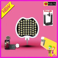 Selfie Flash Light Wholesale-Fusitu FT-54 più luminosa del telefono mobile Mini Handheld Portable 54 LED Spotlight
