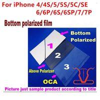 Wholesale Mirror Lcd Iphone 4s - mirror film for iPhone 4 4S 5 5c 5s SE 6 6p 6s plus 7plus Back Polarized polaroier Polarization Polaroider bottom Film Refurbishment