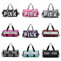 Wholesale Sport Duffle Bag Wholesale - VS Pink Handbags Women Pink Letter Travel Bags VS Beach Bag Duffle Bags Large Capacity Waterproof Yoga Sports Shoulder Bags OOA1680