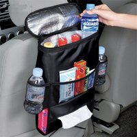 Wholesale Pvc Cool Seat - New Hot sale Waterproof 600D Oxford Fabric car back seat organizer car storage cooler bag drinks food snack net pocket bag tissue box