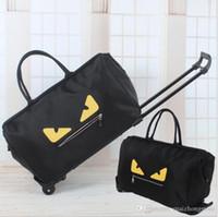 Wholesale Wheeled Bag Foldable - Free shipping 2017 Famous brand big capacity woman handbags oxford foldable travel bag with wheels luggage bags luxury designer handbags
