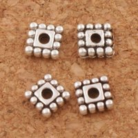Dots Rim Square Beads Atacadinha de liga 1600pcs / lot 5x5mm Antique Jewelry Jewelry Findings L673 Hot Sell Components