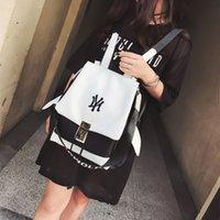Wholesale Mochilas Style Vintage - 2016 Design PU Leather Backpack Women Backpacks For Teenage Girls School Bags Black Summer Brand Vintage Backpack Mochilas Mujer