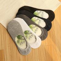 bambou fibres homme été achat en gros de-Chaussettes basses en coton et fibres de coton pour femmes d'été Chaussettes basses sans couture en coton Chaussettes invisibles pour hommes