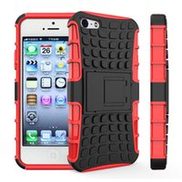 Wholesale Apple Rugged Protection - For iPhone 5s Case, Heavy Duty Rugged Dual Layer Shockproof Protection Case Cover For Apple iPhone5 5s SE Armor Case