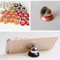 ipad magnethalter großhandel-360 drehbare magnetische Telefon hoder Multifunktions-Magnet Auto Halterung mobile Ständer Halterungen für iphone 6 7 Galaxie s8 ipad gps kostenlos DHL-Versand