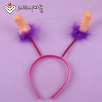 Wholesale Hen Night Headband - Wholesale- 30% off for 2pcs or more Sex products Willy headband Penis souvenir fun party hen night Bachelorette Party hair accessories