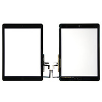 ipad luft touchscreen glas digitizer großhandel-Hochwertige Touchscreen Glasscheibe Digitizer mit Tasten Klebstoff für iPad Air free DHL