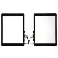 ipad hava cam dokunmatik ekran toptan satış-Yüksek kalite ile Dokunmatik Ekran Cam Panel Sayısallaştırıcı Düğmeler Yapıştırıcı Meclisi için iPad Hava ücretsiz DHL
