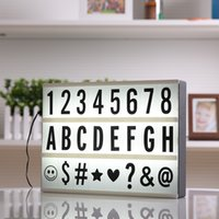 2017 Новый A4 размер светодиодный Cinematic Light Box с DIY 90 PCS BLACK Letters Cards 3AA БАТАРЕЯ или USB-ПОРТ Powered Cinema Lightbox Write Board