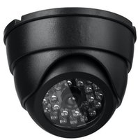 Wholesale Black Dome Camera - Black Security Dummy Fake Simulation Dome CCTV Camera Security Indoor Outdoor Fake Red Led Flashing Light Surveillance Camera ann