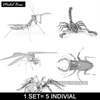Wholesale 3d Insect Toys - Wholesale-Puzzle 3d Educational Toys For Children Puzzles Metal For Adults Diy Metal 3d Puzzle Iq Insect Series