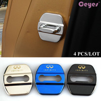 Wholesale G35 Cars - Auto car door lock protector emblems for INFINITI q50 fx35 qx70 g35 car door lock covers car styling accessories 4PCS LOT