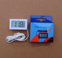 Wholesale Digital Aquarium Water Temperature - Wholesale- Digital thermometer electronic temperature meter Aquarium Refrigerator Water 1M sensor wire -50-110C