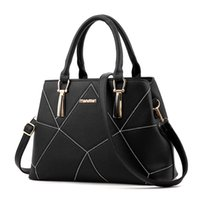Wholesale Plum Cross Stitch - Fashion Shoulder Bag Handbag Simple Geometric Cross Stitching Simple Handbag Geometric Mosaic Bag