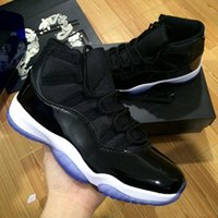 """Wholesale Lace Rose Women Top - With Box + Number """"45"""" Retro 11 Spaces Jams Basketball Shoes for Men Women 2017 Top quality Airs 11s Athletic Sport Sneakers Size 36-47"""