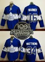 Wholesale Mixed Leaf - 100th leafs 2017 Draft #16 MARNER #34 Matthews Blue 2017 winter classic Hockey Jerseys Stitched Mix Order