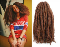 Wholesale afro extension synthetic hair for sale - Group buy 18inch Afro kinky marley braid curly crochet hair extension synthetic Useful hair Mongolian marley braiding hair crochet braids bolote