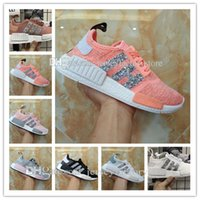 Unisex black sequin shoes - NMD R1 Primeknit Tri color Pink Black Triple OG Running Mens Shoes Nmds Runner Primeknit Sneakers Originals Classic Casual Shoes Sequins