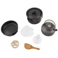 Wholesale Aluminium Anodised - Portable Camping Anodised Aluminium Cookware Outdoor Pots Pans Kettle Kitchen