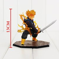 Wholesale Super Trunks - Dragon Ball Z Super Saiyan Trunks Battle Version PVC Action Figure Model Collection Toy With Box 14cm Free Shipping