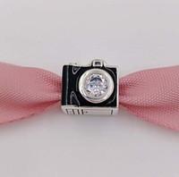 ingrosso fascino di viaggio per i braccialetti-Autentico 925 Sterling Silver Beads Sentimental Snapshots Fascino Adatto Braccialetti Europei di Stile Pandora 791709CZ Camera Viaggi