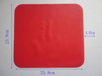Wholesale Silicone Rubber Coaster - 3 pcs lot 100% silicone kitchen pads,silicone coaster,cup liner,cup mat,silicone tablemat,silicone placemat silicone kitchen tools red color