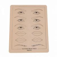 Wholesale tattoo beginner online - Top Quality Permanent Makeup Eyebrow lips Tattoo Practice Skin Training Skin Set For Beginners