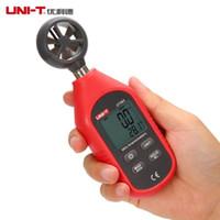 anemómetro al por mayor-UNI-T UT363 Analizador de velocidad del viento digital 30 m / s Temperatura de flujo de aire LCD