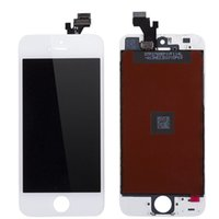 Wholesale Lcd Screen Glass Iphone5 - LCD Touch Screen Display Digitizer Touch Screen Replacement Kit Glass Frame Assembly Panel for iPhone5 5c 5s 6 6s 6plus 7 7plus