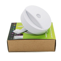 Wholesale Led Light Toilet Seat - Toilet Night Light LED Sensor Motion Activated Toilet Bathroom Washroom Night Lamp Toilet Bowl Light Sensor Seat Nightlight