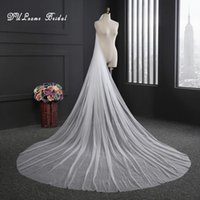 Wholesale China Yarns - 2017 New Style Elegant High Quality One Layer 3M Chapel Length Cut Edge Bridal Veil Wedding Veil With Comb Wedding Accessories China