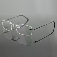 Wholesale Titanium Rimless Glasses Wholesale - Wholesale- Chashma Brand Rimless Titanium Alloy Ultra Light Weight Myopia Glasses Frame Optical Eye Glasses For Men
