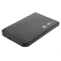 "Wholesale Dropshipping Hard Case - Wholesale- DropShipping 1Pc Black USB 2.0 480Mbps Enclosure Case Box for Laptop 2.5"" SATA Hard Drive Wholesale 2016"