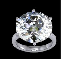 Wholesale Natural Diamonds Ring - 12ct Stunning Natural Round Solitaire Huge Diamond Engagement Ring SI1-I GIA