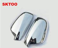 ingrosso tappi a specchio laterale-Misura per il periodo 2004-2012 Peugeot 307 CC SW 407 Specchietto laterale per specchietto retrovisore cromato Retrovisore Accessori 2 pezzi per set Auto Stying