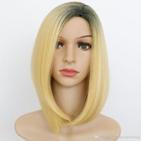 Fashion Short Mix blonde Cheveux droles cheveux synthétiques Cosplay Wigs + capuchon de perruque gratuit Couleurs Mix Short Straight Layered Synthetic Hair