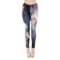 Wholesale Jeggings Pants Galaxy - Women Leggings Galaxy 3D Graphic Print Girl Skinny Stretchy Yoga Wear Pants Lady Casual Jeggings Sport Workout Full Length Trousers (J31173)