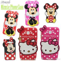 """Wholesale Sumsung Galaxy Cell Phones - New Arrival 3D Cute Cartoon Minnie Mouse Soft Silicone Back Cover For Sumsung Galaxy J5 2016 J510 SM-J510F 5.2 """" Cell Phone Case DHL"""