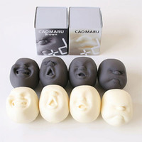 Wholesale caomaru face stress ball - 8 2xj Novelty Vent Toys Caomaru Human Face Stress Ball Funny Gag Induction Rubber Balls Decompression Fidget Spinner Toy Gifts Hot Sale