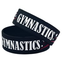 Wholesale Gymnastics Wear - 50PCS Lot 1'' Wide Band Gymnastics Silicone Bracelet, It' Soft And Flexible Great For Normal Day To Day Wear