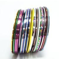 Wholesale Nail Art Tapes - Byfunme 20pcs set Nail Art Lace 3D Nail Stickers Foil Stripping Tape set Makeup Cosmetic Design