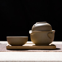 Wholesale Hand Painted Ceramic Pots - Coarse ceramic celadon Ge Travel Portable Kung Fu tea set set of teacups hand-painted Quik one pot and one or two cups