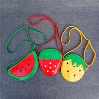 Wholesale storage for purses online - Fruit Shape Wallet Lovely Zipper Crossbody Bag Popular Card Storage Purse Size Adjustable For Children Creative Present xm C R