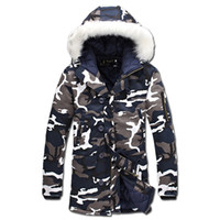 Wholesale men padded jackets - 2016 Men Winter Camouflage Padded Jackets Coats Veste Hmme Parkas Jaqueta Maculina Men's Casual Fashion Slim Fit Wadded Jackets